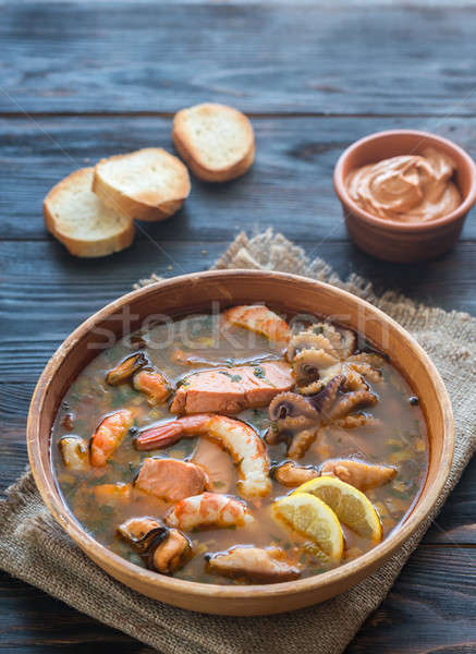 Bowl of Bouillabaisse Stock photo © Alex9500