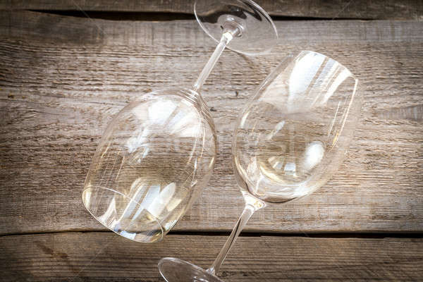 Glasses of white wine Stock photo © Alex9500