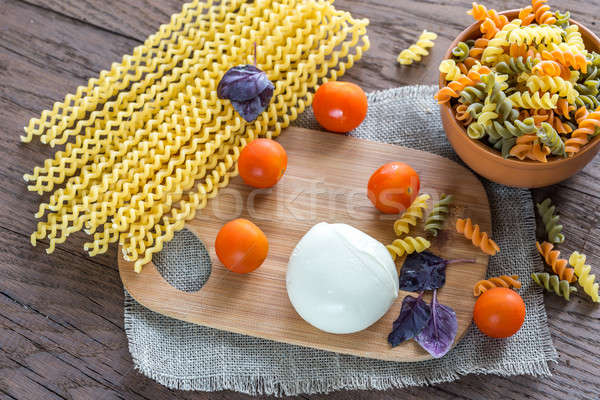 Various types of fusilli with ingredients Stock photo © Alex9500