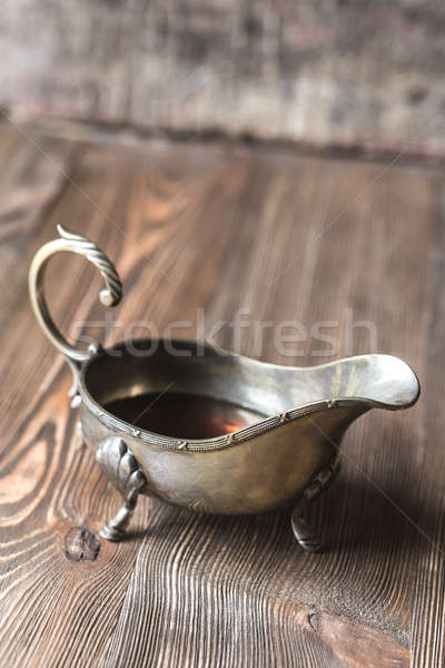 Maple syrup in vintage sauce boat Stock photo © Alex9500