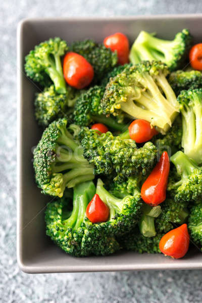 Ciotola broccoli chili sfondo mangiare pepe Foto d'archivio © Alex9500