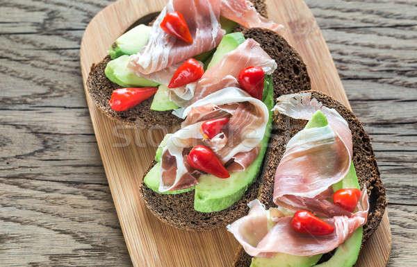 Aguacate prosciutto mar verde grupo Foto stock © Alex9500