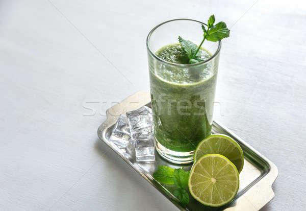 グリーンスムージー 食品 葉 ガラス 表 緑 ストックフォト © Alex9500