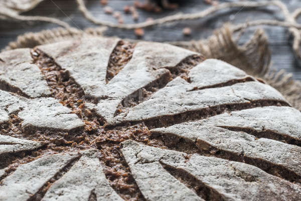Rye bread with nuts and seeds: top view Stock photo © Alex9500