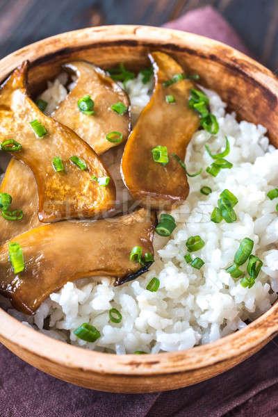 кегли риса терияки царя устрица грибы Сток-фото © Alex9500