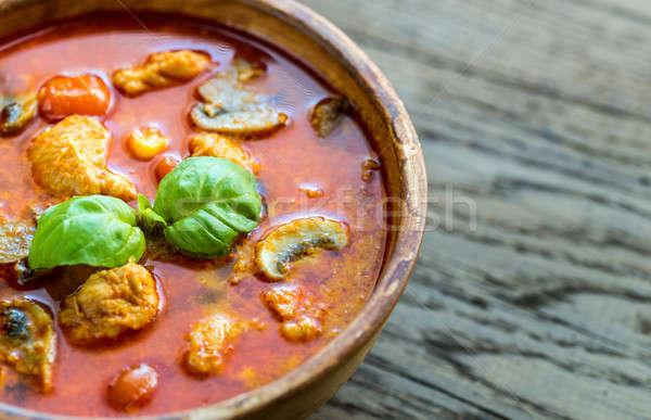 Thai red chicken curry Stock photo © Alex9500