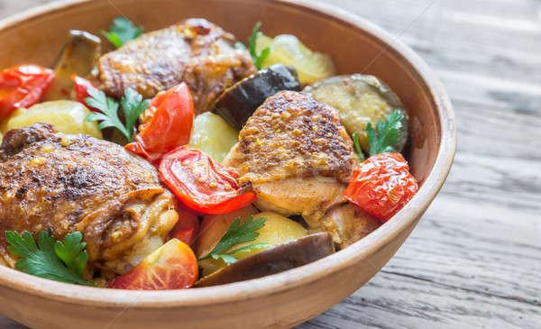 Indian piccante pollo verdura verde rosso Foto d'archivio © Alex9500