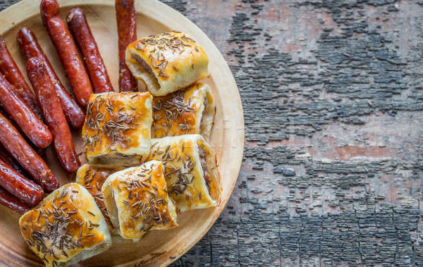 Grilled sausages and sausage rolls Stock photo © Alex9500