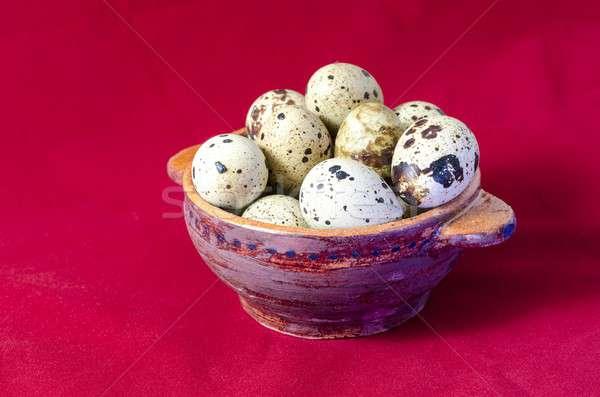 яйца глина чаши красный яйцо фон Сток-фото © Alex9500