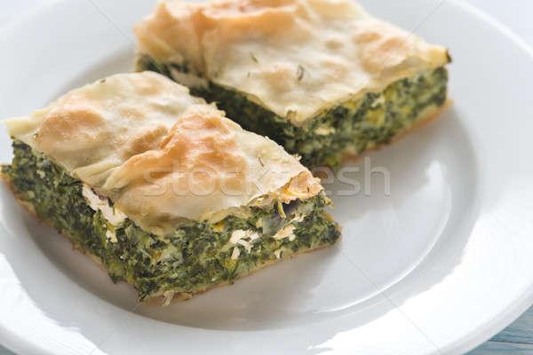 Porción griego espinacas pie alimentos Foto stock © Alex9500
