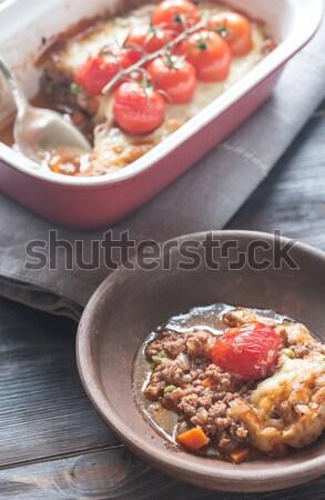Mozzarella meat pie Stock photo © Alex9500