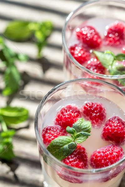 Sparkling Raspberry - Limoncello Cocktail Stock photo © Alex9500