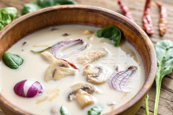 Thai coconut cream soup Stock photo © Alex9500