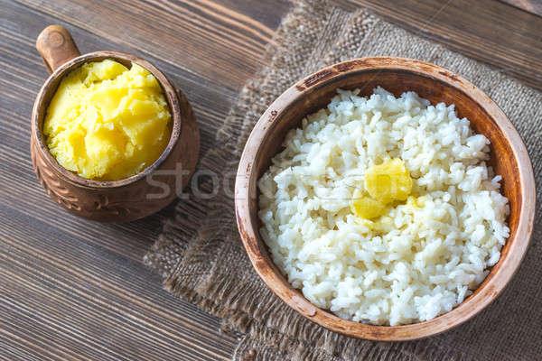 кегли риса масло продовольствие таблице молоко Сток-фото © Alex9500