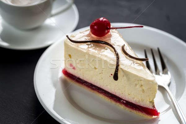 малиной чизкейк Sweet Вишневое продовольствие шоколадом Сток-фото © Alex9500