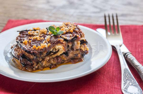 Portion of parmigiana di melanzane Stock photo © Alex9500