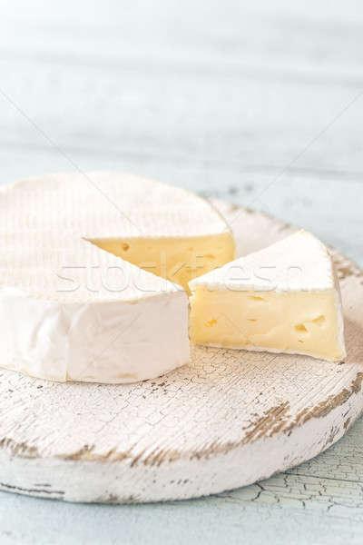 Camembert fa deszka étel fej fehér tábla Stock fotó © Alex9500