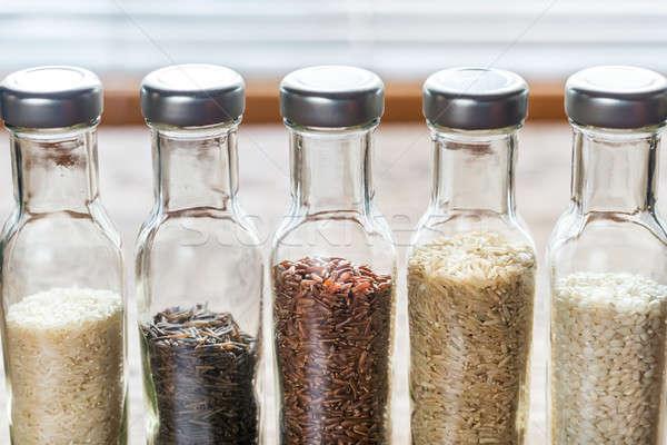 различный риса стекла бутылку красный азиатских Сток-фото © Alex9500