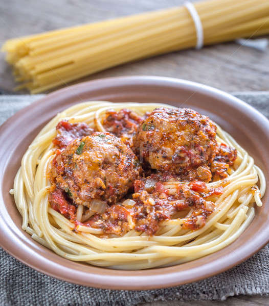 Turkey meatballs with pasta Stock photo © Alex9500
