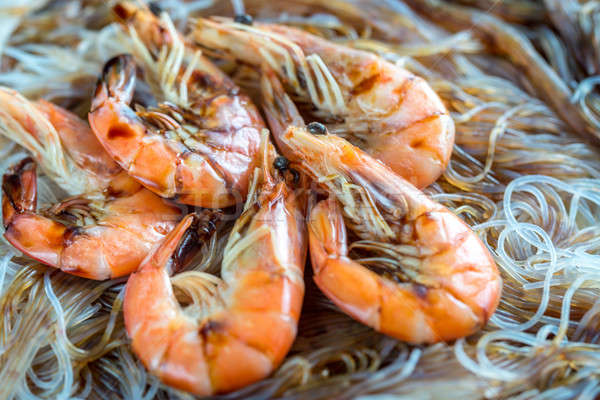Asian noodles with shrimps Stock photo © Alex9500