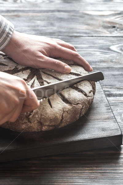 Cutting of rye bread Stock photo © Alex9500