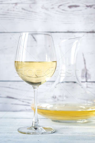 Glass of white wine Stock photo © Alex9500