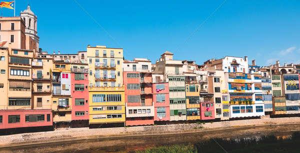 Pittoresque maisons Espagne rivière maison bâtiment Photo stock © Alex9500
