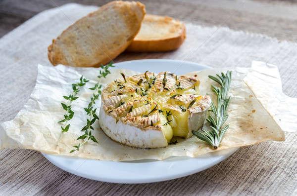 Queijo camembert queijo comida tabela pão Óleo Foto stock © Alex9500