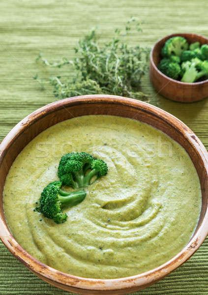 Brokoli peynir çorba tavuk akşam yemeği öğle yemeği Stok fotoğraf © Alex9500