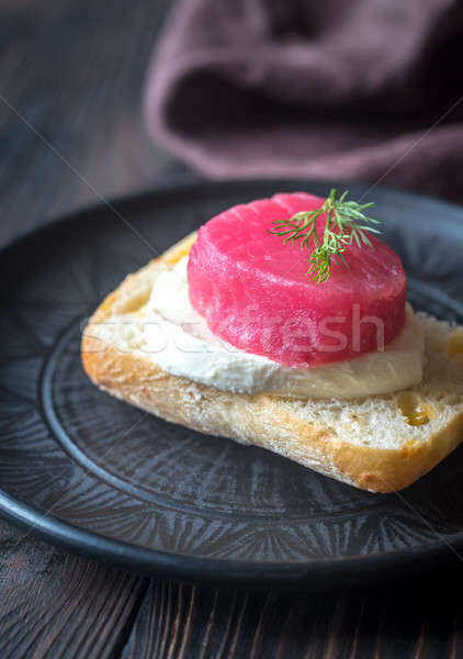 Sandwich with tuna and mozzarella Stock photo © Alex9500