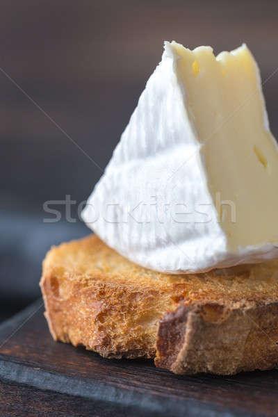 Brindis camembert queso verde desayuno Foto stock © Alex9500