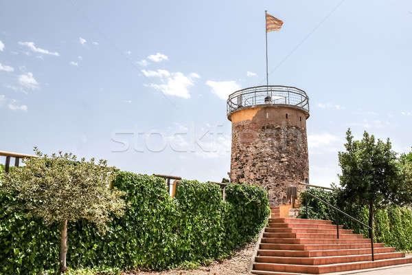 Tower del Castell in the town of Malgrat del Mar, Spain Stock photo © Alex9500