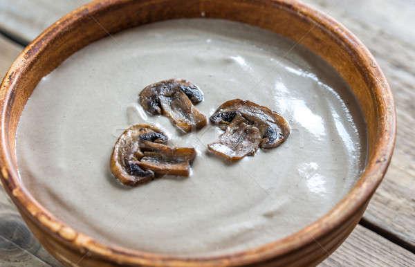 çanak kremsi mantar çorba gıda akşam yemeği Stok fotoğraf © Alex9500