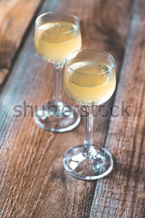 Twee cocktail bril wijn glas achtergrond Stockfoto © Alex9500