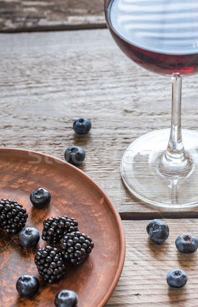 Wine with berries Stock photo © Alex9500