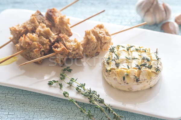 カマンベール チーズ 焼いた パン 食品 表 ストックフォト © Alex9500