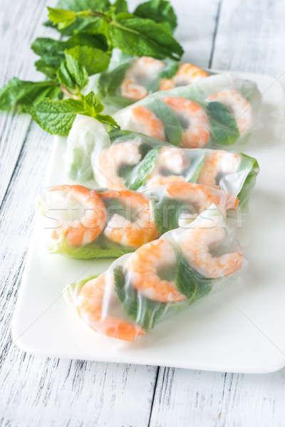 Shrimp rice paper rolls Stock photo © Alex9500