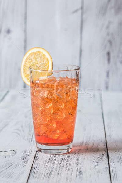 Glass of Aperol Spritz cocktail Stock photo © Alex9500