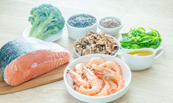 Plant-based and animal sources of Omega-3 acids Stock photo © Alex9500