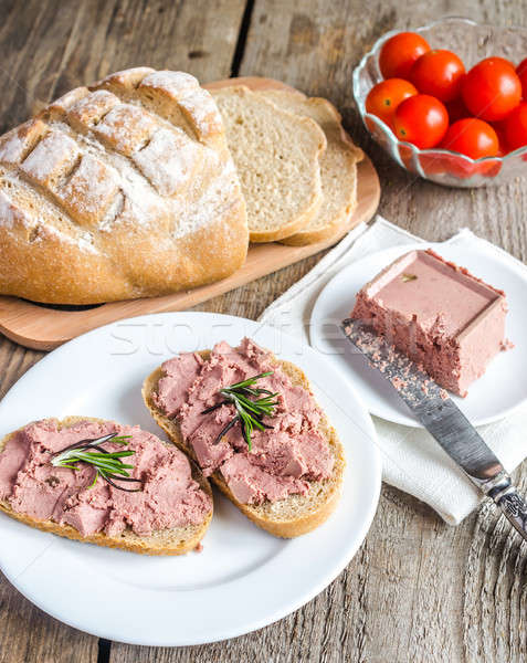 Wholewheat sandwiches with liver pate Stock photo © Alex9500