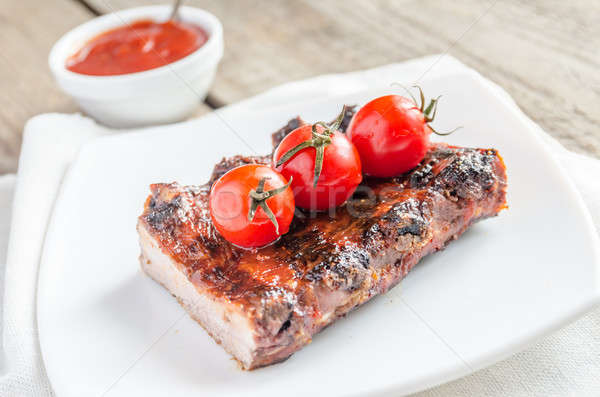 Grilled pork ribs in barbecue sauce Stock photo © Alex9500