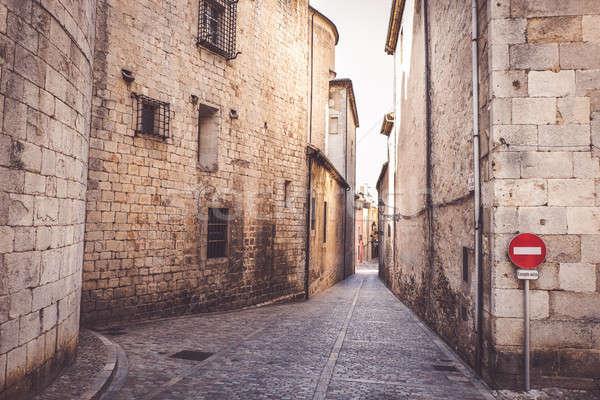Ortaçağ çeyrek İspanya ev Bina mimari Stok fotoğraf © Alex9500