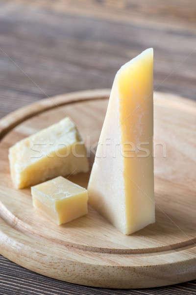 Grana Padano cheese on the wooden board Stock photo © Alex9500
