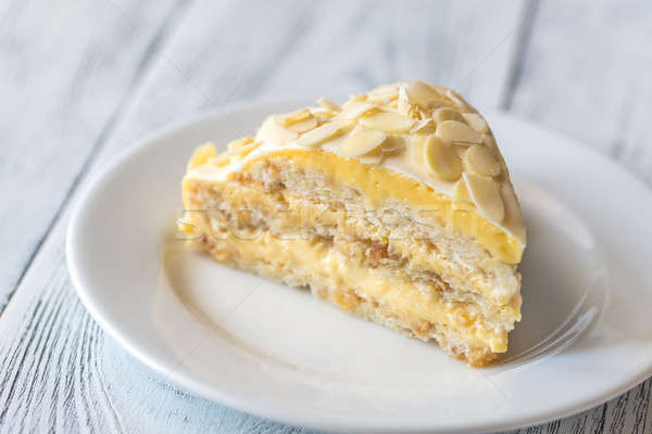 египетский торт белый пластина свежие Сток-фото © Alex9500