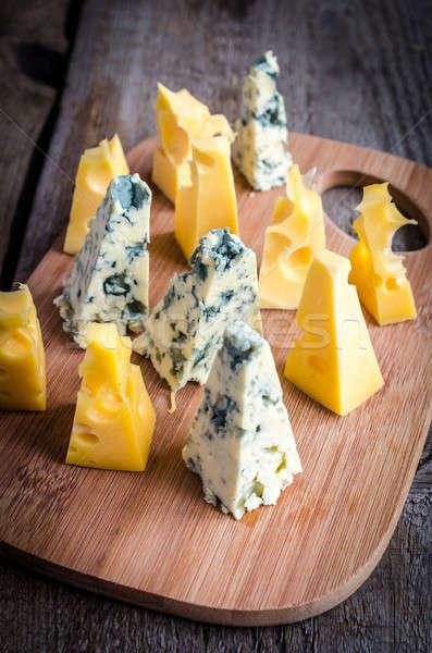 ピース ブルーチーズ 食品 表 青 チーズ ストックフォト © Alex9500