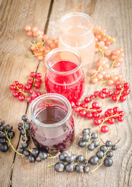 Currant jam with fresh berries Stock photo © Alex9500