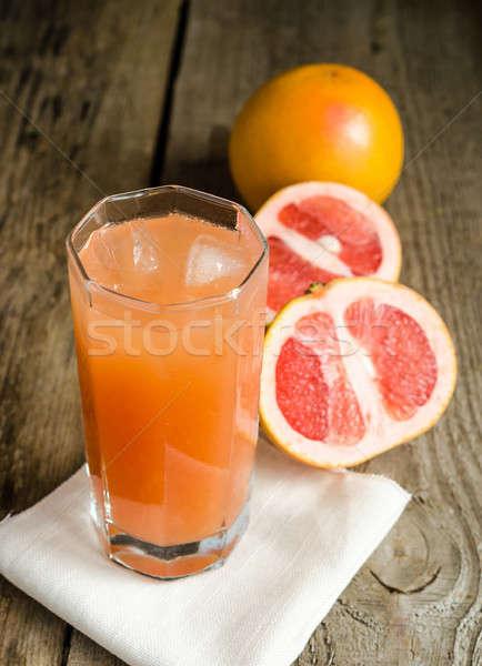 Greyfurt meyve suyu bahçe arka plan tablo içmek Stok fotoğraf © Alex9500