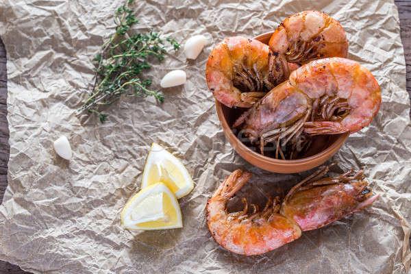Oranje citroen vers dieet zeevruchten Stockfoto © Alex9500
