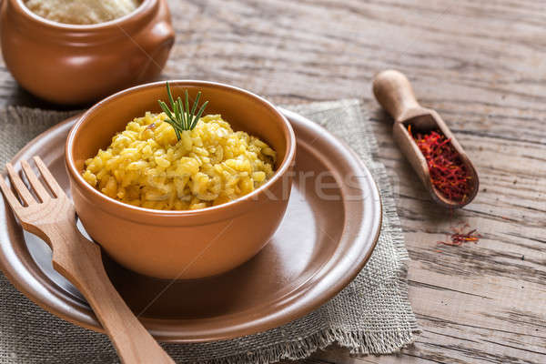 Risotto with saffron Stock photo © Alex9500