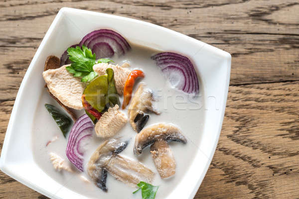 Puchar tajska zupa trawy tabeli zielone Zdjęcia stock © Alex9500